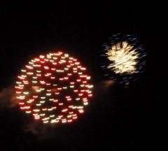 feux d'artifice, vacances, Provence, 14 Juillet